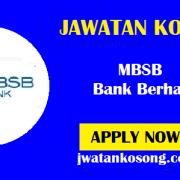 Jawatan Kosong Terkini MBSB Bank Berhad, Pelbagai Kekosongan Di Tawarkan ( Update )