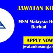 Jawatan Kosong Terkini Di MSM Malaysia Holdings Berhad, Pelbagai Kekosongan ( Update )