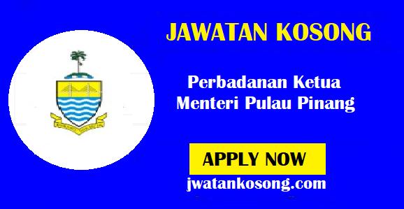 Jawatan Kosong Terkini Di Perbadanan Ketua Menteri Pulau Pinang – 25 Oktober 2021