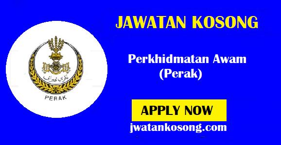 Jawatan Kosong Terkini Perkhidmatan Awam (Perak), Tarikh Tutup 14 Oktober 2021